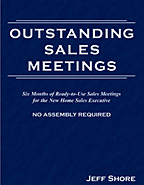 New Home Sales Training Product - Outstanding Sales Meetings