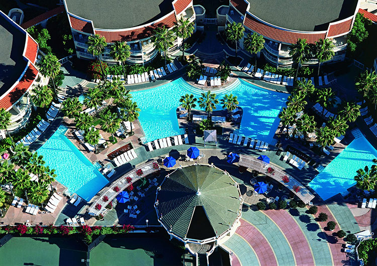 Pool deck at Loews Coronado Resort