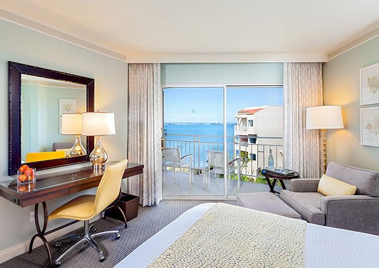 Partial bayview king room at Loews Coronado Resort
