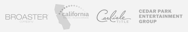 Broaster Company, California Travel Association, Carlisle Tile, Ceder Park Entertainment Group