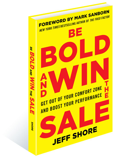 Be Bold and Win the Sale book graphic